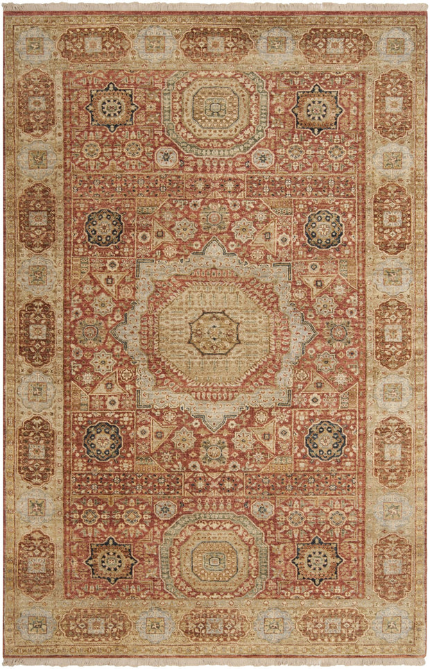 Cambridge Rug in Beige & Rust
