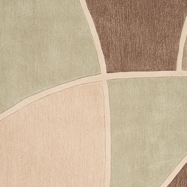 Cosmopolitan Collection Area Rug in Sage Green, Sand, and Tan