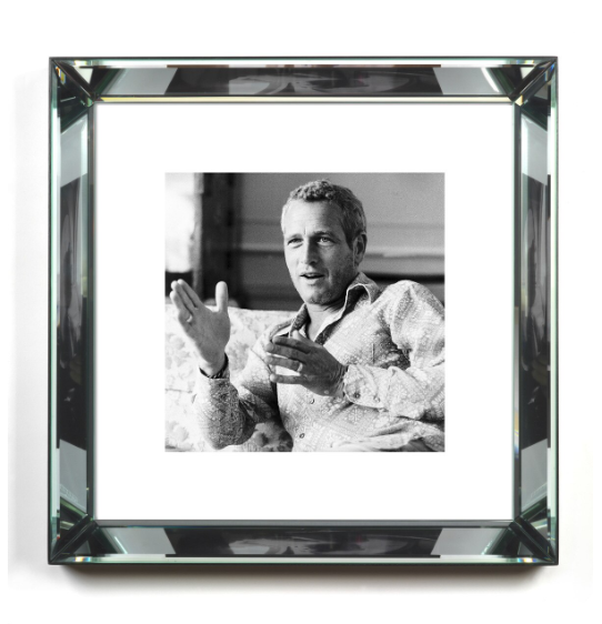 Paul Newman in Black and White Print