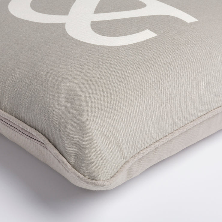 "Glyph 18"" x 18"" Cotton Pillow in Medium Gray and Ivory Tone"