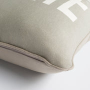 "Glyph 18"" x 18"" Cotton Pillow in Medium Gray and Ivory Shade"