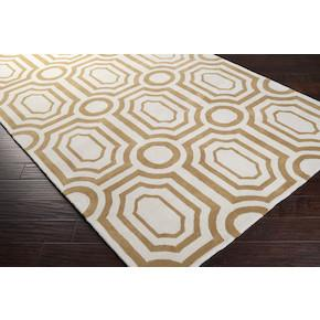 Hudson Park Area Rug in Old Gold and Winter White design by Angelo Surmelis