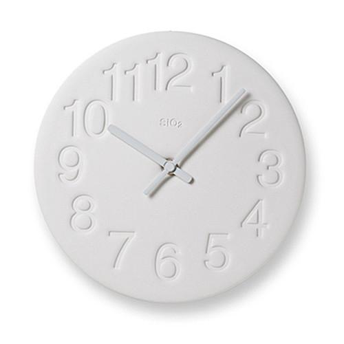 Earth Wall Clock in White