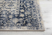 Malta Rug in Ivory & Blue by Kathy Ireland