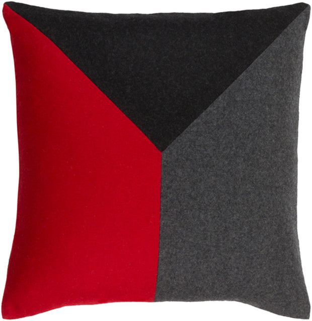 Jonah Woven Pillow in Bright Red