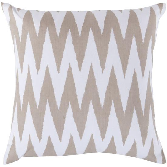 Zigzag Accent Pillow in Beige and White design by Surya
