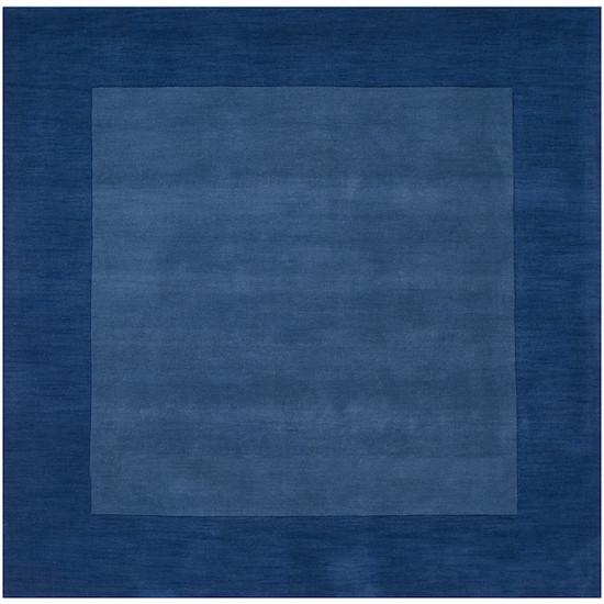 Mystique Collection Wool Area Rug in Sapphire and Dark Blue design by Surya