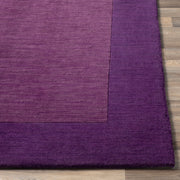 Mystique Collection Wool Area Rug in Aubergine and Dark Plum