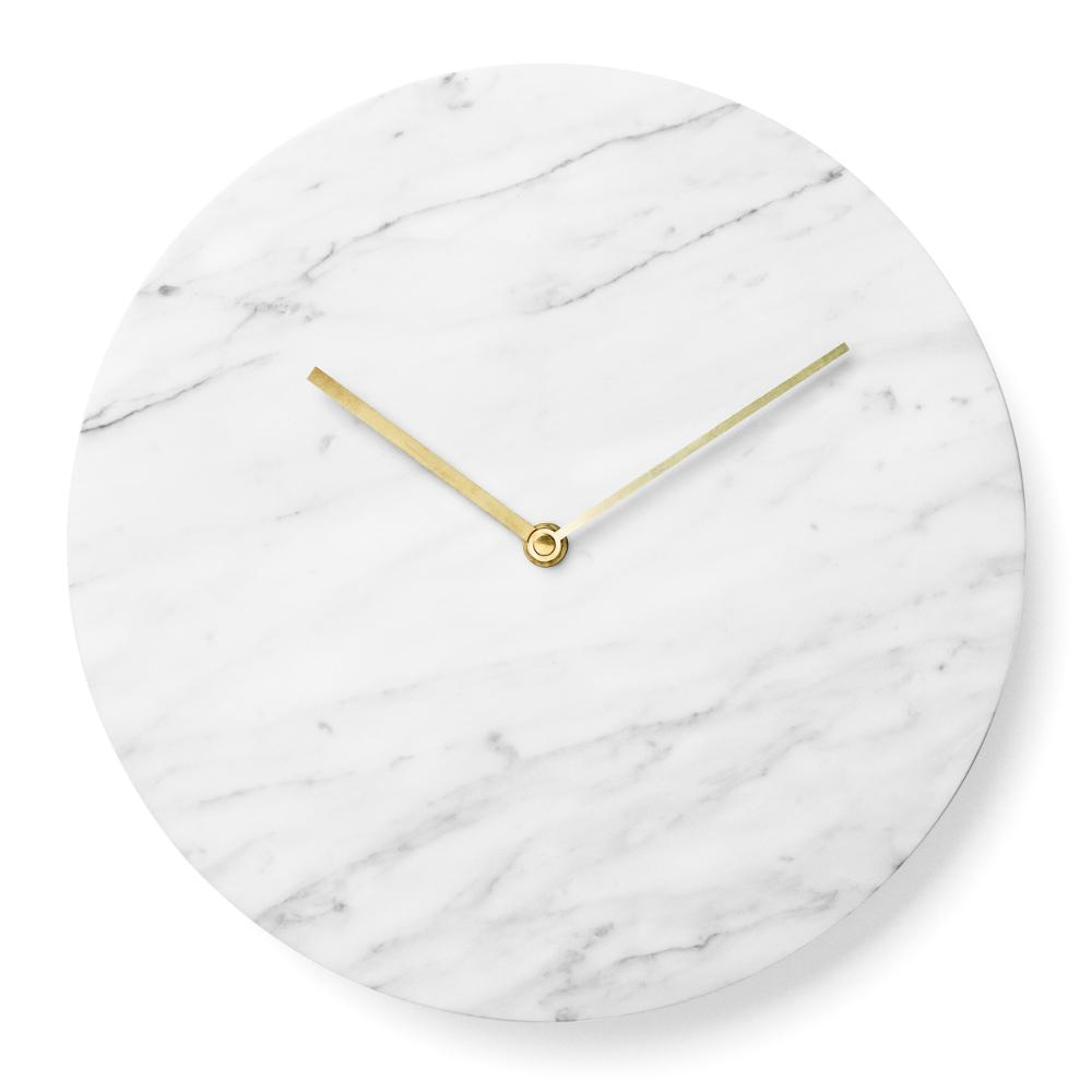 Marble Wall Clock in White design by Menu