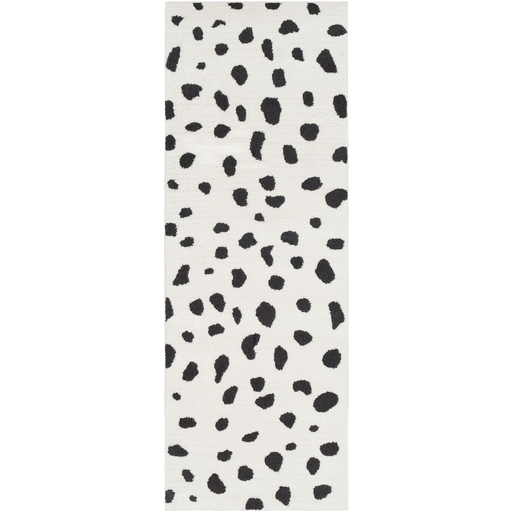 Moroccan Shag Rug in White & Black