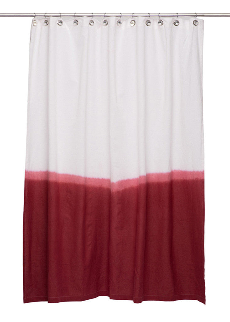 Dip Dye Shower Curtain In Red Design By IGH