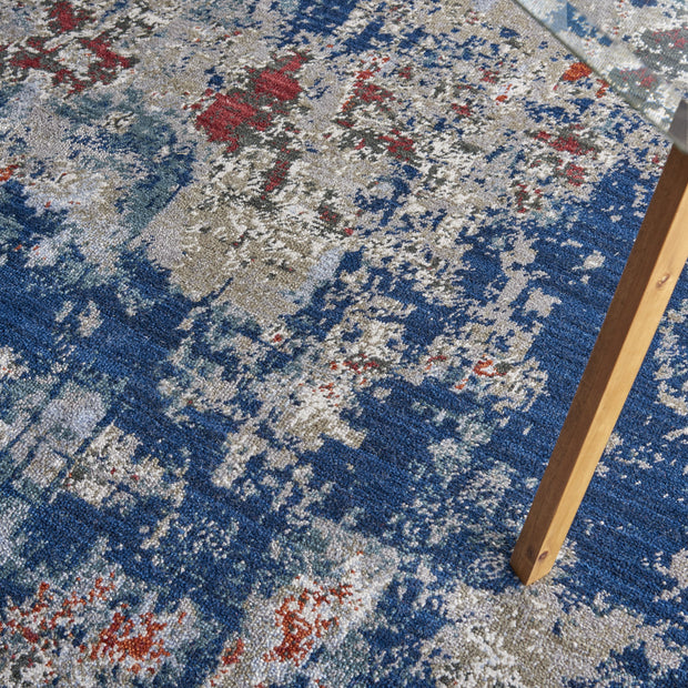Artworks Rug in Navy/Brick by Nourison