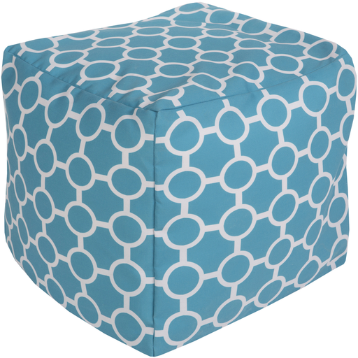 Aqua & Grey Pouf design by Sury