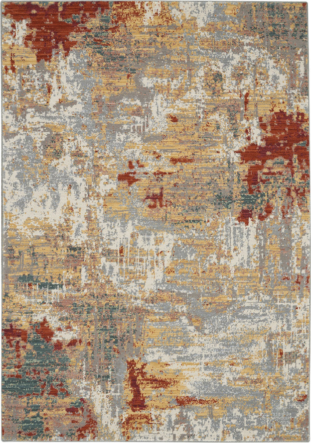 Artworks Rug in Silver/Grey/Yellow by Nourison