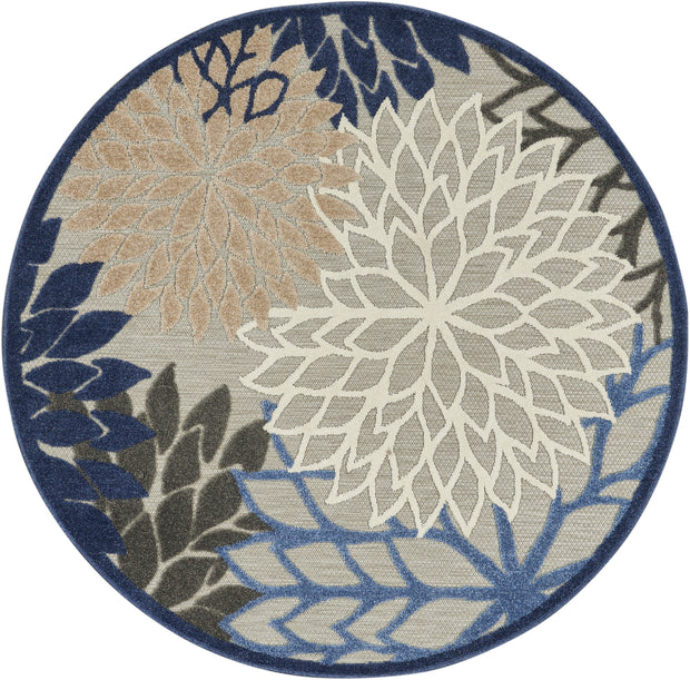 Aloha Indoor-Outdoor Rug in Blue & Multi by Nourison