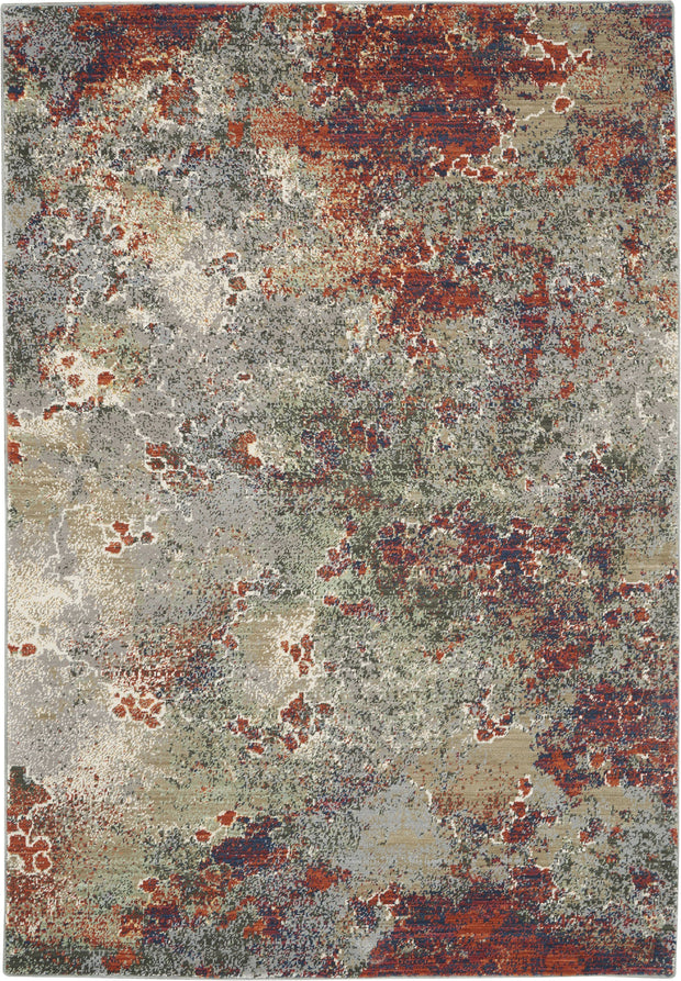 Artworks Rug in Seafoam/Brick by Nourison