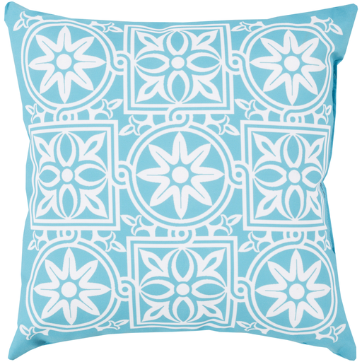 Rain Ivory & Cobalt Pillow design by Sury