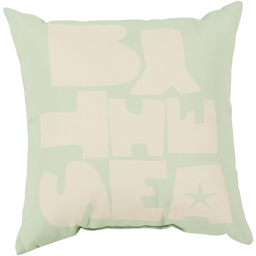 Rain Ivory & Mint Pillow