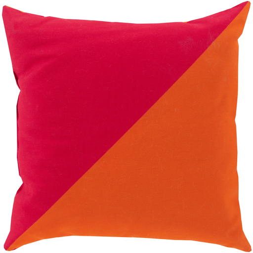 Rain Hot Pink & Tangerine Pillow
