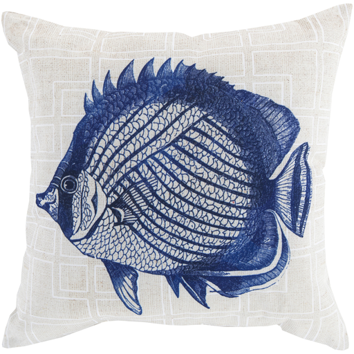 Rain Cobalt & Ivory Pillow design by Sury
