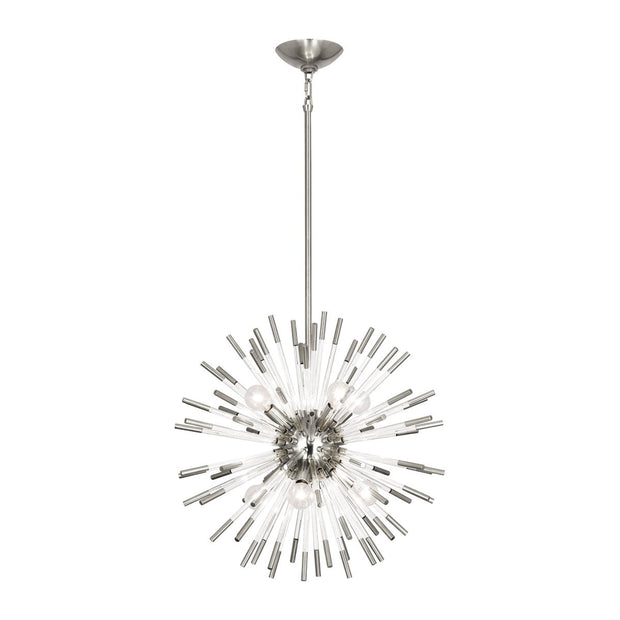 Andromeda Pendant in Polished Nickel Finish w/ Clear Acrylic Accents design by Robert Abbey