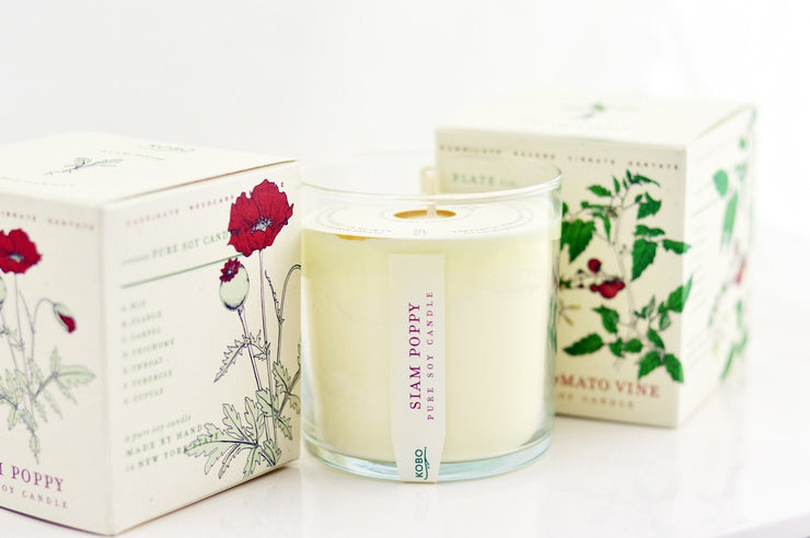 Wild Tomato Vine Soy Candle design by Kobo Candles
