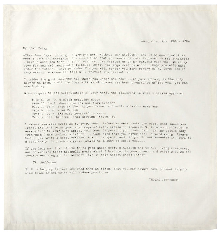 Letters of Advice Ed. No. 3 Napkins design by Sir/Madam