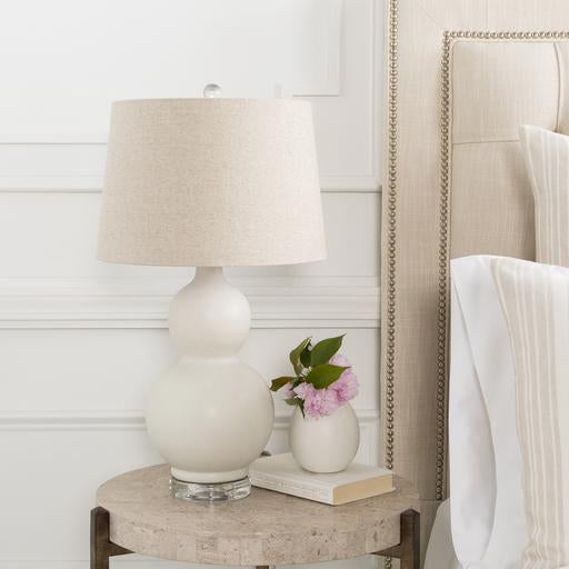 Semmes Table Lamp in White