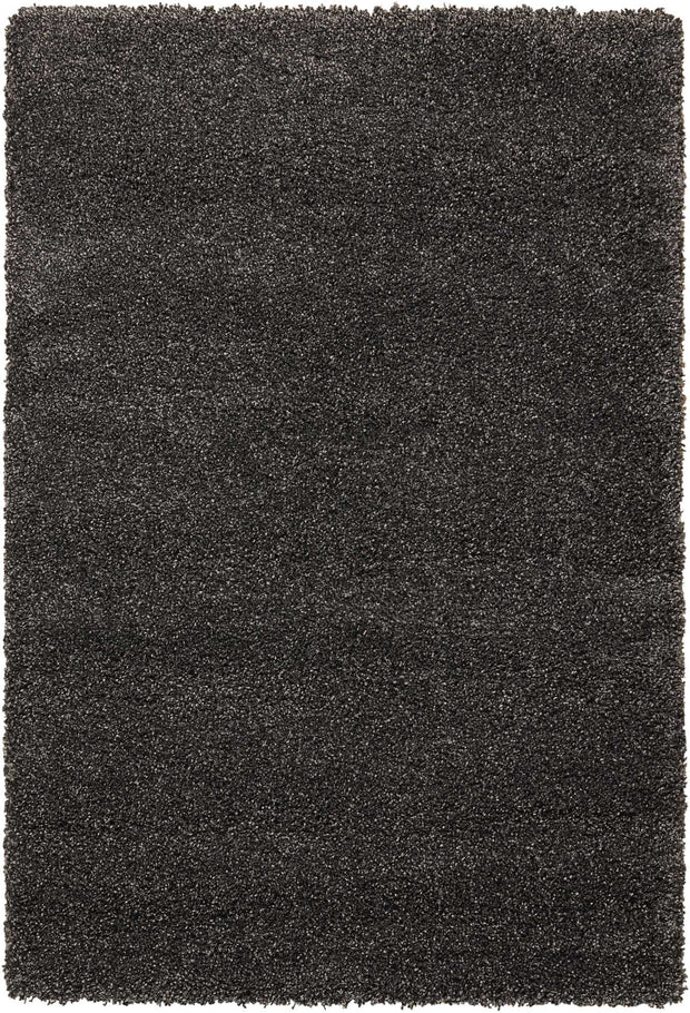 Amore Collection Shag Area Rug in Dark Grey by Nourison