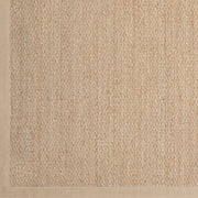 Village Collection Seagrass Area Rug in Tan and Caramel