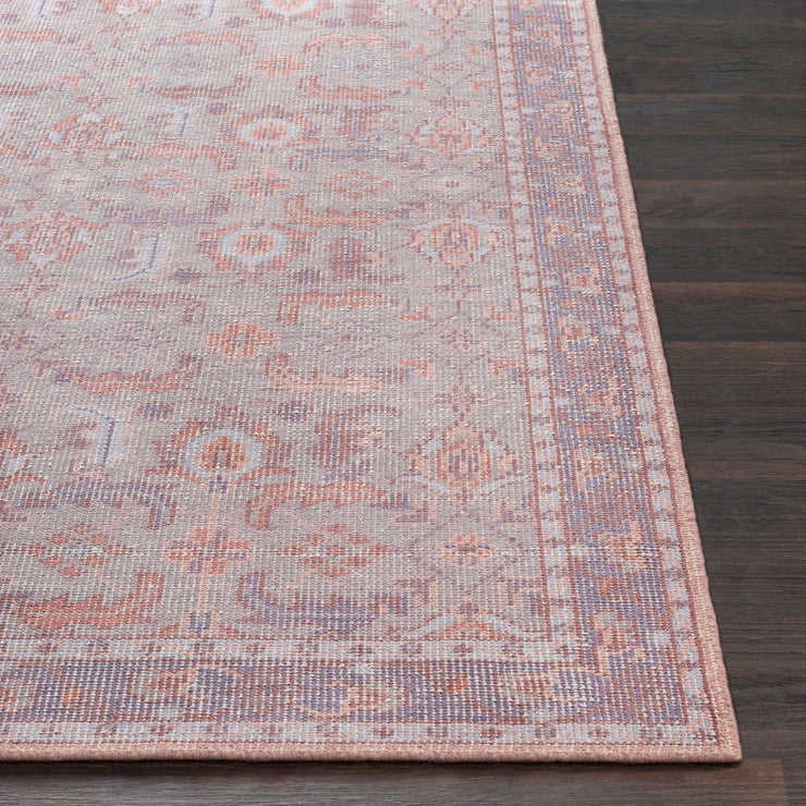 Zahara Rug in Grey & Eggplant