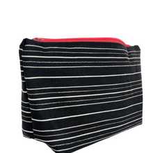 Load image into Gallery viewer, Stripes & Red Zipper Bag - The Crafty Artisans