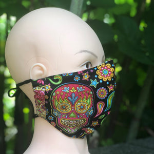Adult Face Cover | Candy Skull - The Crafty Artisans