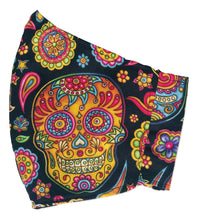Load image into Gallery viewer, Adult Face Cover | Candy Skull - The Crafty Artisans