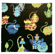 Load image into Gallery viewer, Large Cloth Napkins | Colourful Cat - The Crafty Artisans