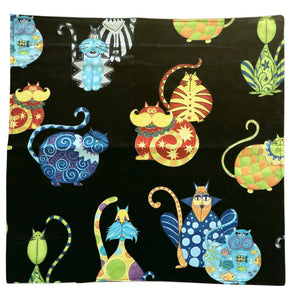 Large Cloth Napkins | Colourful Cat - The Crafty Artisans