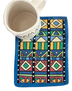 Mug Rug Coaster | African Print - The Crafty Artisans