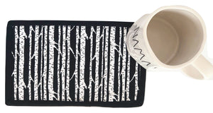 Mug Rug Coaster | Black & White - The Crafty Artisans