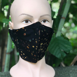 Adult Face Cover | Black & Dots - The Crafty Artisans