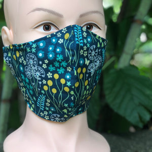 Adult Face Cover | Floral Dots - The Crafty Artisans