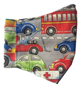 Kid Face Mask | Cars - The Crafty Artisans