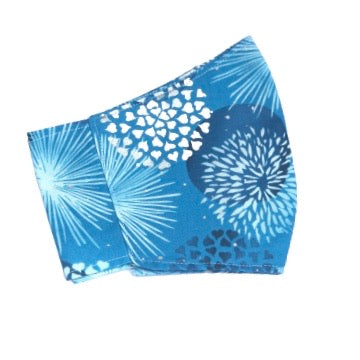 Adult Face Cover | Blue Fireworks - The Crafty Artisans