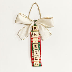 Scrabble Christmas Ornaments | Friends - The Crafty Artisans