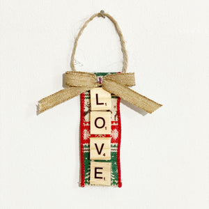 Scrabble Christmas Ornaments | Love - The Crafty Artisans