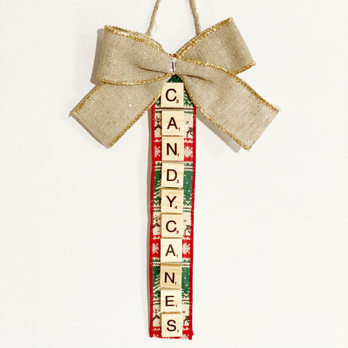 Scrabble Christmas Ornaments | Candy Canes - The Crafty Artisans