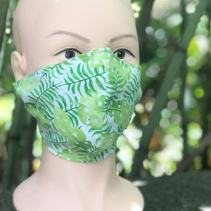 Adult Face Cover | Leafy Greens - The Crafty Artisans