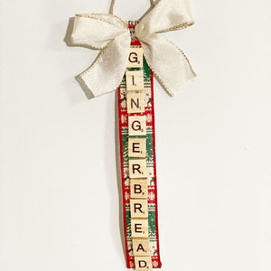 Scrabble Christmas Ornaments | Gingerbread - The Crafty Artisans