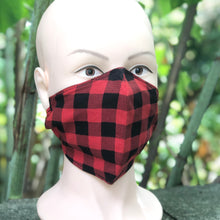 Load image into Gallery viewer, Adult Face Cover | Plaid - The Crafty Artisans