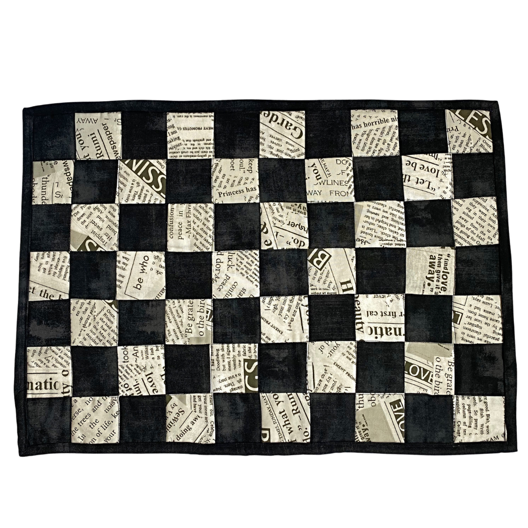 Placemats | Black & White Checkerboard - The Crafty Artisans