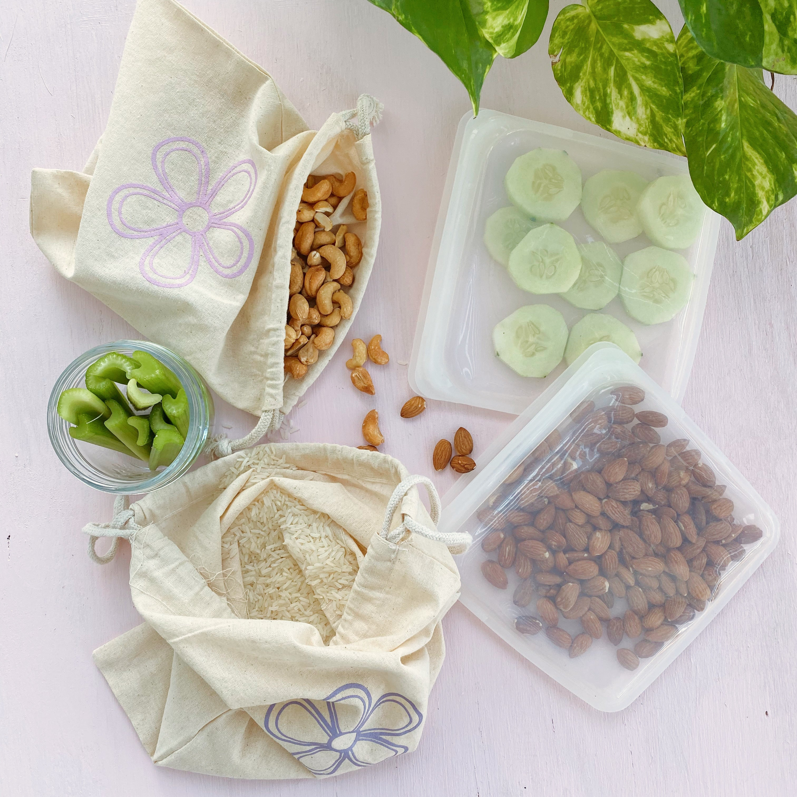 Silicone Storage Bags (Set of 2 Bags)